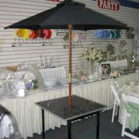 Where to find TABLE, 30 X30  SQ MARBLE UMBRELLA in Fairview Heights
