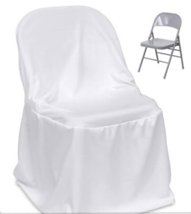 Where to find CHAIR COVER,  Folding BRIGHT WHITE in Fairview Heights