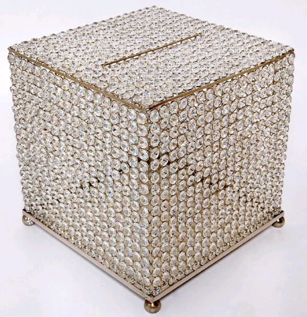 Container For Wedding Gift Envelopes : CARD BOX CRYSTAL RHINESTONE Rentals Fairview Heights IL, Where to Rent ...