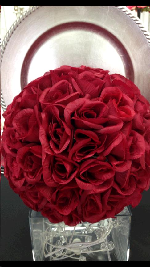 Where to find FLORAL BALL, 9  BURGUNDY in Fairview Heights