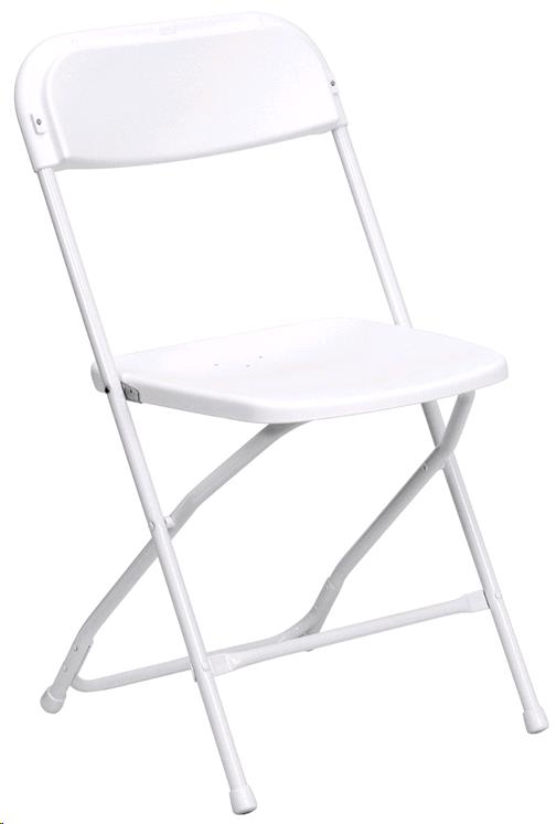 Where to find CHAIR, WHITE FOLDING  FLASH in Fairview Heights
