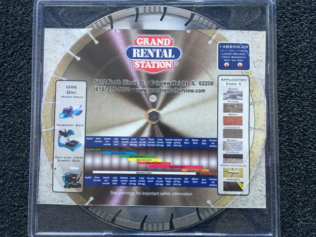 Where to find 14  DIAMOND BLADE - GRS COMBO in Fairview Heights