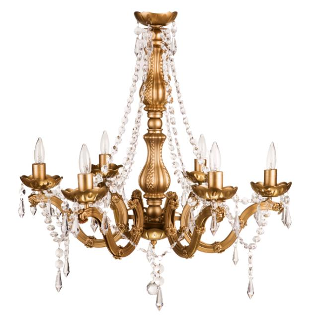Where to find CHANDELIER, GOLD   INDOOR USE ONLY in Fairview Heights