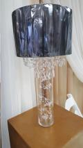 Where to rent LAMP SHADE, BLACK w  CRYSTALS in Fairview Heights IL