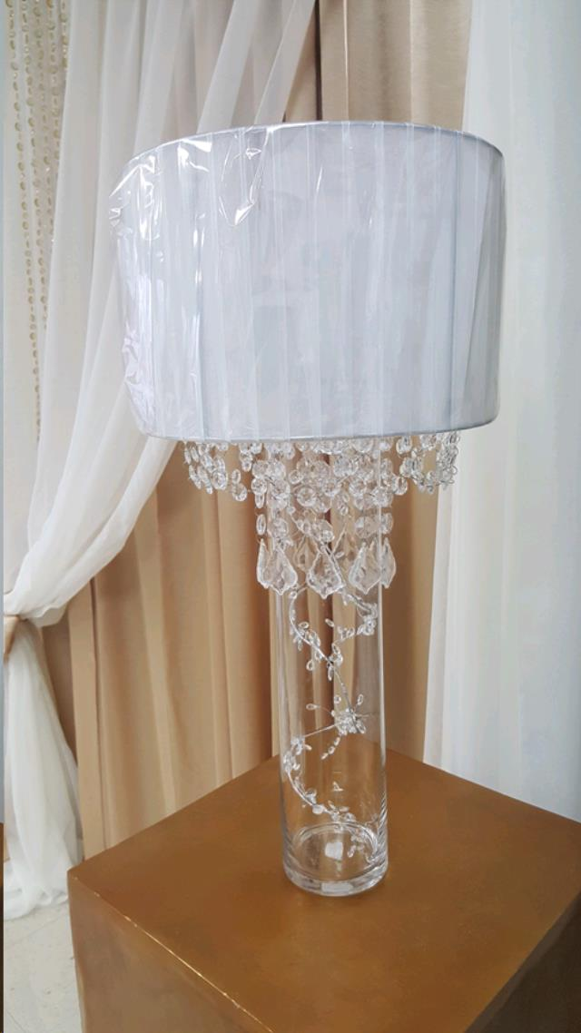 Where to find LAMP SHADE, WHITE w  CRYSTALS in Fairview Heights