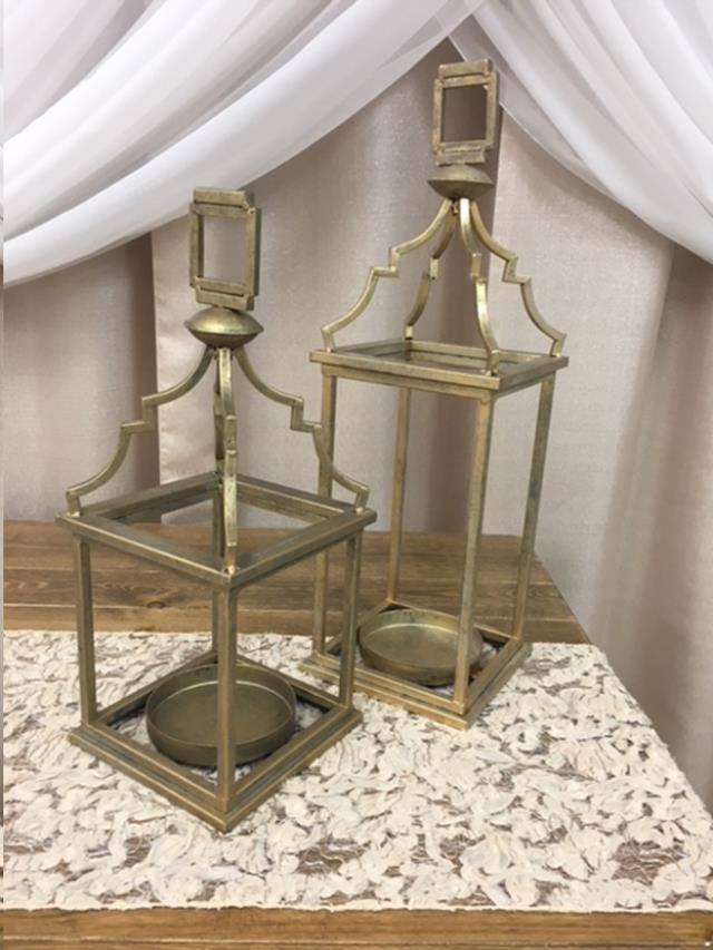 Where to find LANTERN 7 x7 x22.25  GOLD in Fairview Heights